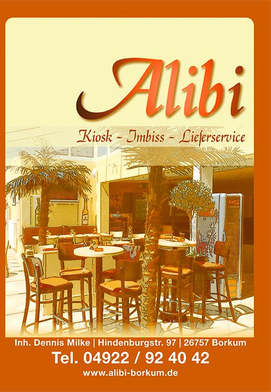 Lieferdienst Alibi Speisekarte